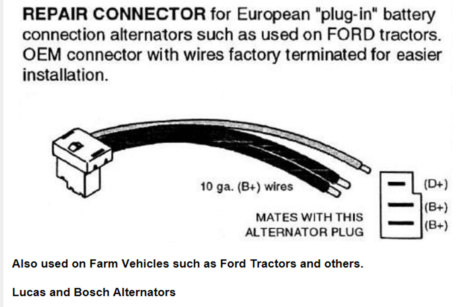 Alternator Wiring Electrical Instruments By Ford Think Battery Diagram Lucas Alt Connection Copy And