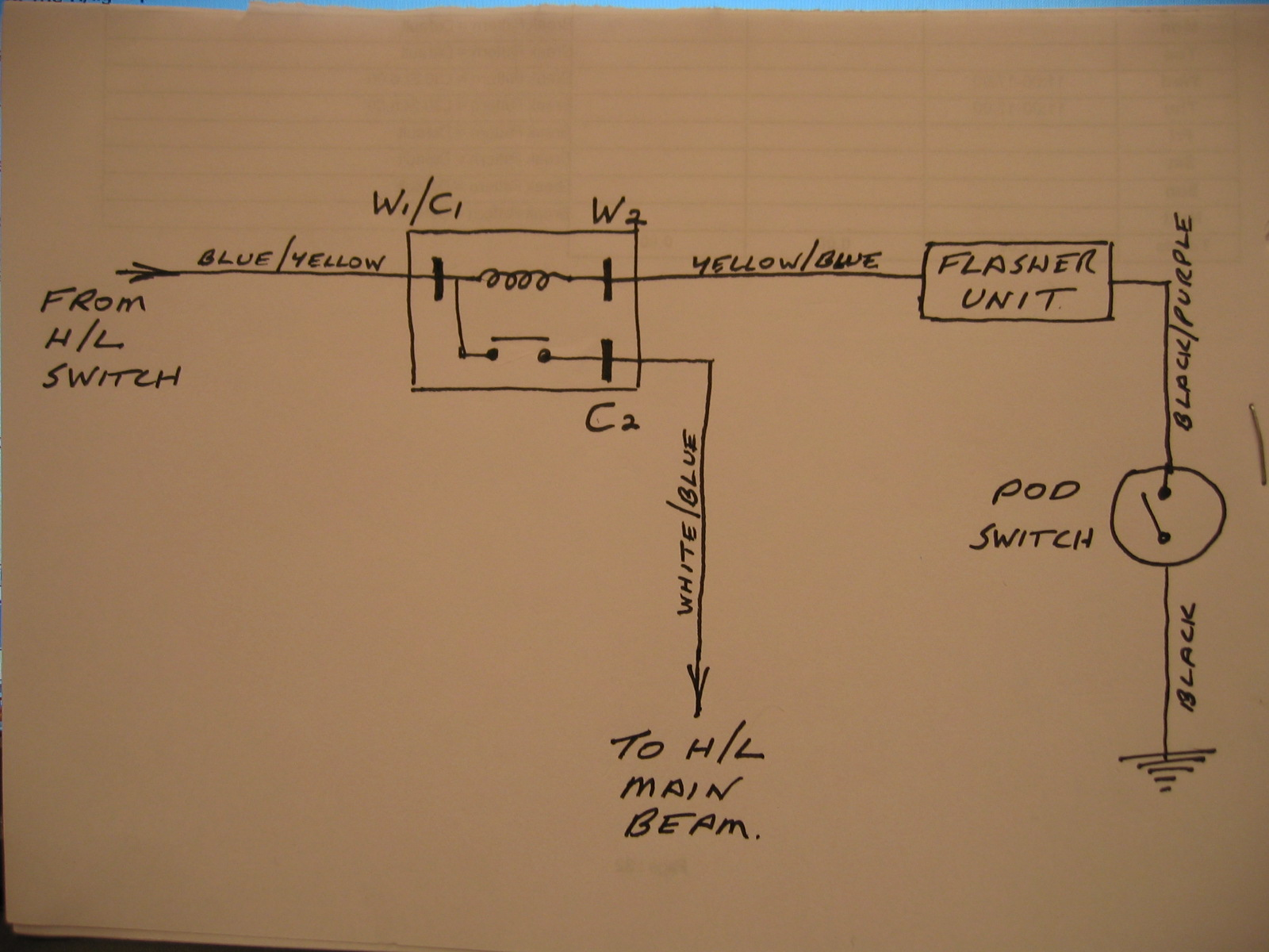 Headlight Flasher Wiring Diagram Beginners Relay Sprint Serial Number Electrical Internal