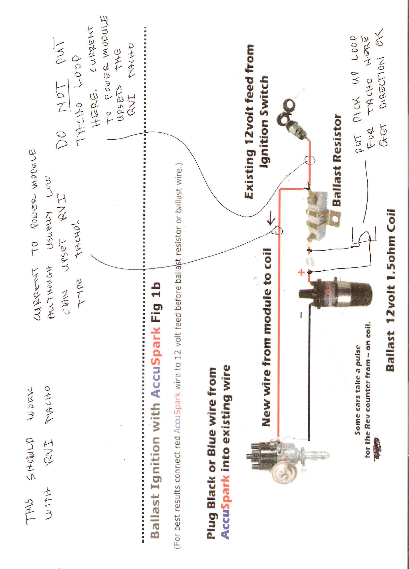 Accuspark Electronic Ignition Wiring Diagram Free Download Mallory Distributor No Tacho After And Ballast Resistor Electrical