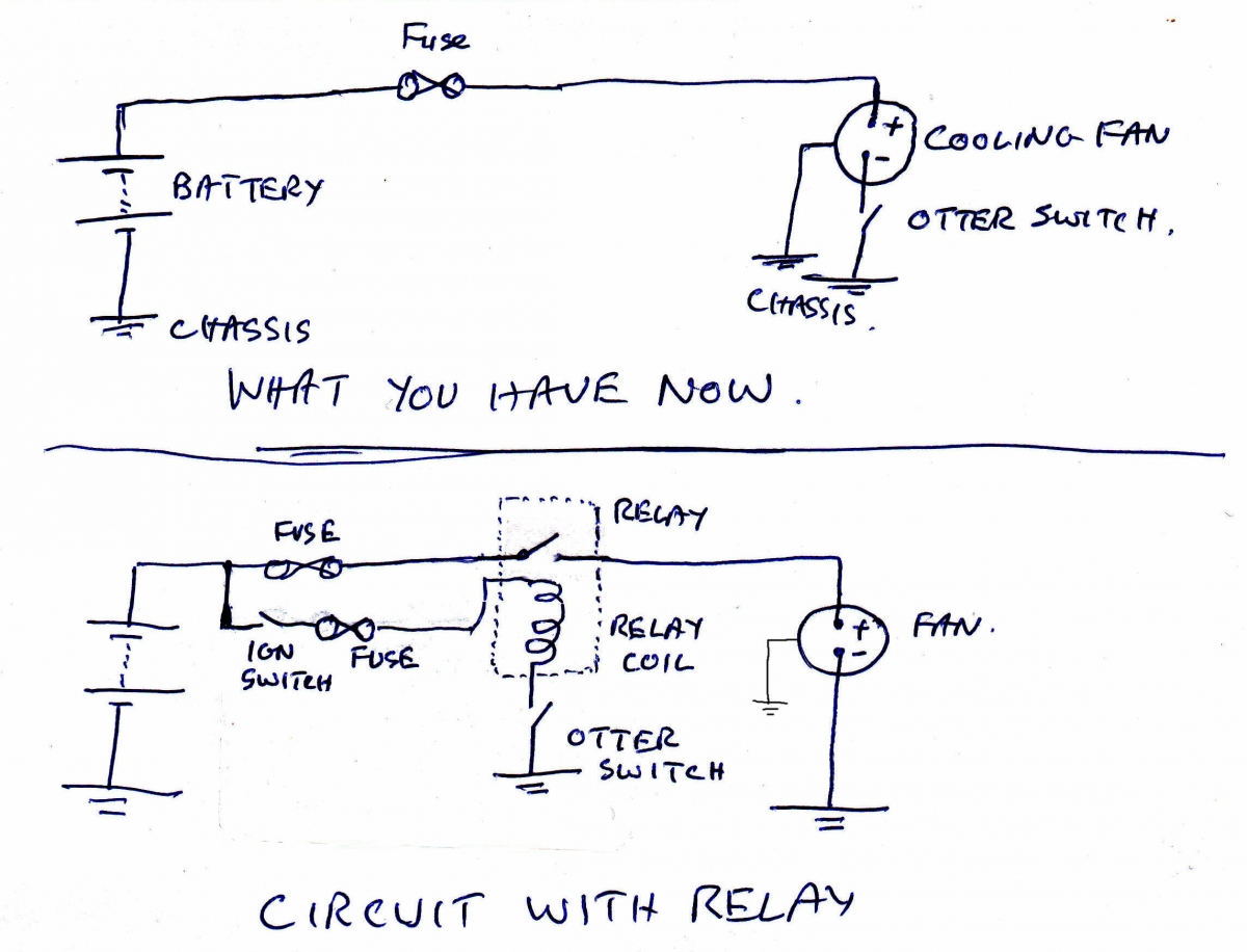 Relay Supply Electrical Instruments By Circuit And Working Coolingfanrelaycircuit Cooling Fan