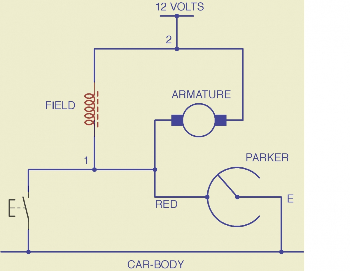 2 Speed Windshield Wiper Vs 1 Electrical Instruments By Basic Wiring Diagram Twospeed3 And